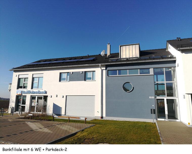 Bankfiliale mit 6 Wohneinheiten und Parkdeck - Dipl.-Ing. Helmut Kaiser