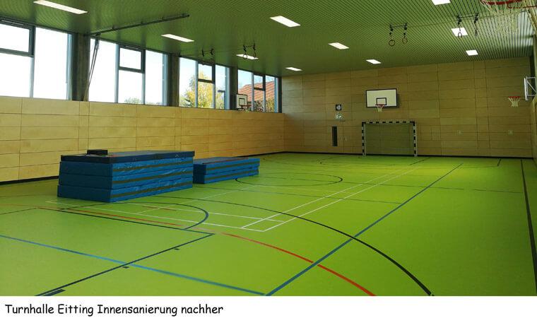 Turnhalle in Eitting, Innensanierung nachher - Dipl.-Ing. Helmut Kaiser